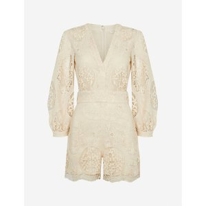 MajeIlou embroidered woven playsuit