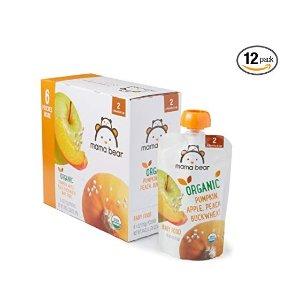 8折+额外9.5折+包邮Mama Bear 有机婴幼儿辅食,美亚自营品牌