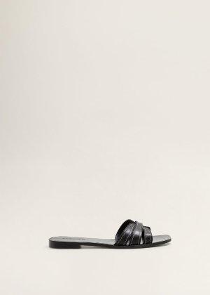 Stich leather sandals -  Women | Mango USA