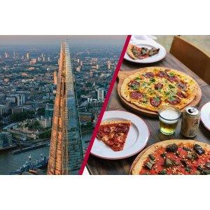 Buyagift碎片大厦观景+双人伦敦 Gordon Ramsay's Street Pizza