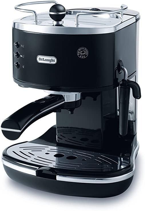 复古半自动咖啡机, ECO310BK, Black