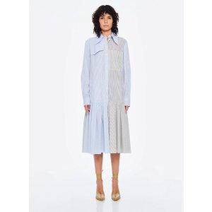 TibiCollage 条纹衬衫裙