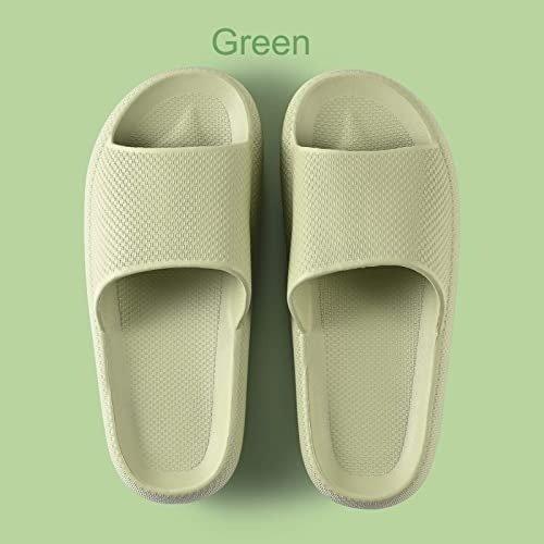 果绿色拖鞋