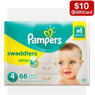 买2件送$10礼卡Target 多品牌婴幼儿尿布热卖,帮宝适、好奇等都参加