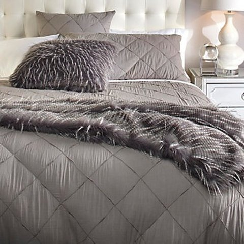 Trapuntino Summer Double Single or 1 Square and Half Bedspread Dove