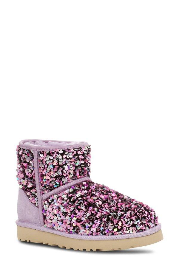 亮片雪地靴