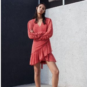 £168入封面款心形印花连衣裙Allsaints 情人节系列精选美衣 春季新款的甜蜜小心机