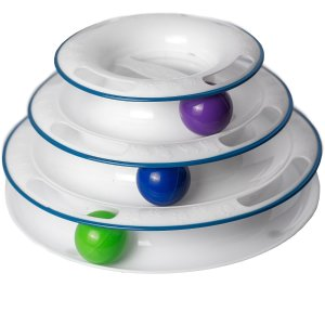Cat Toys Interactive fun with 3-Level Tower Ball & Track