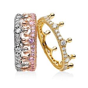 Pandora皇冠戒指套装