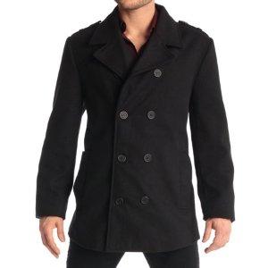 $29.99(Org:$185)Alpine Swiss Jake Men's Double Breasted Pea Coat Wool Blend