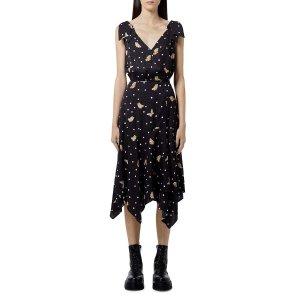 The KooplesGet $25 GC,Spend$200 Get $50 GCButterfly Print Wrap Midi Dress