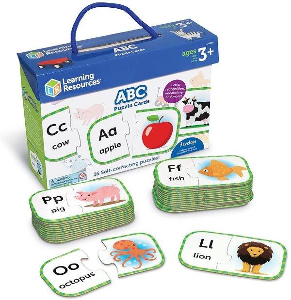 Learning Resources ABC拼图学习卡,3岁以上适用