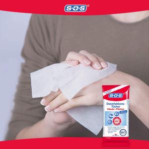 4包100片消毒湿巾仅€7.49SOS 消毒系列 疫情囤货 消毒湿巾、喷雾、手部消毒 70%酒精