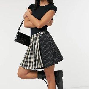3折起+全场8.5折 £6就收必备百褶裙ASOS 学院风百褶裙、格子短裙专场 get甜辣女孩Look