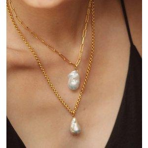 Monica Vinader珍珠项链吊坠
