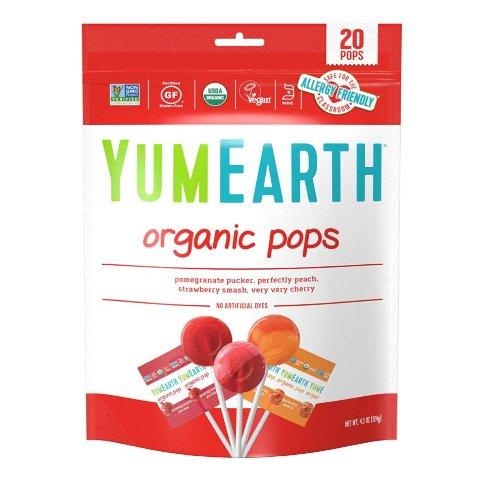 $2.85YumEarth Organic Lollipops 4.3oz 20 Lollipops