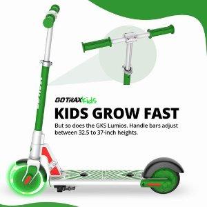 $136.39(原价$229.99)史低价:GOTRAX GKS LUMIOS 发光前轮 儿童电动滑板车