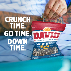$7.34 for Pack of 12DAVID Roasted and Salted Original Jumbo Sunflower Seeds