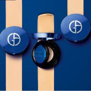 无门槛8折 €64收蓝气垫最后一天:Armani官网 打折季全场大促 蓝气垫罕见有折 红管唇釉等都参加