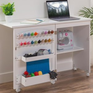 Best Choice Products 缝纫机工作台,可折叠收纳为边桌