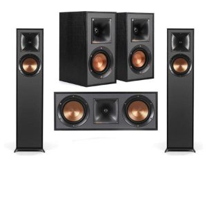 Klipsch 2 Pack R-610F Floorstnding Home Speaker W/R-41M Bookshelf/R-52C Speakers