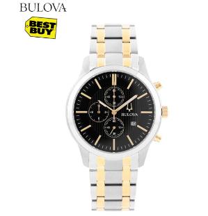 $99.99(原价$394.99)Bulova 男士时尚腕表特卖   父亲节表心意