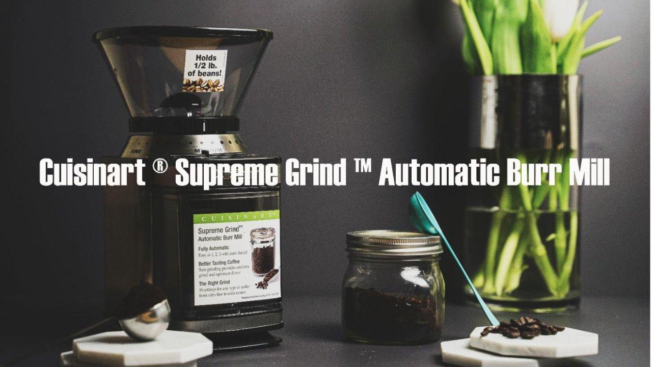 省时省力粗细可控现喝现磨 | Cuisinart咖啡豆研磨机