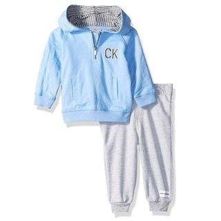 $11.35(原价$55)起+包邮手慢无:Calvin Klein 男宝宝连帽卫衣+卫裤套装,多色可选