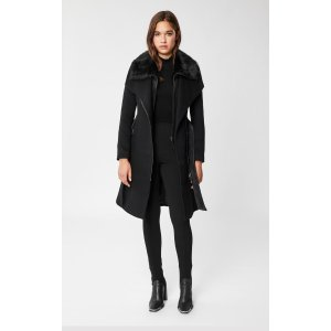 Mackagedouble-face wool coat with tailored collar
