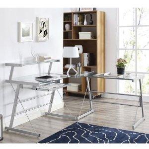 $129.99(原价$399.99)Broderick L形拐角电脑桌