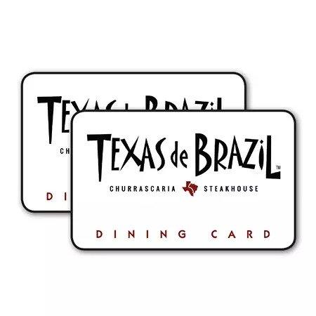 Texas De Brazil $50礼卡 两张共$100