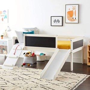 7.6折起DONCO Kids 儿童优质松木高低床,带趣味滑梯