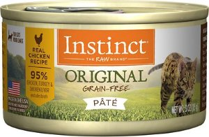 Instinct by Nature's Variety Original Grain-Free Real Chicken Recipe Natural Wet Canned Cat Food, 3-oz, case of 24 - Chewy.com