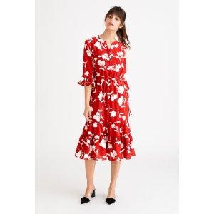 Petite StudioCelina Dress - Red Floral