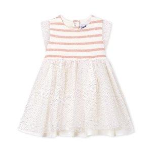 Petit BateauBaby Girl's Sleeveless Two-Fabric Dress