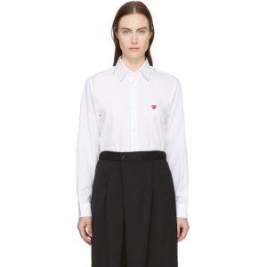 COMME DES GARCONS PLAY小桃心白色衬衫