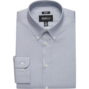2 for $35Awearness Kenneth Cole Blue Check Slim Fit Dress Shirt - Men's Shirts | Men's Wearhouse
