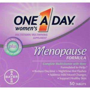 $12.33 包邮One-A-Day 更年期综合维生素 50片 女性保养