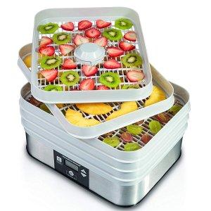 $64.97(原价$74.99)Hamilton-Beach 温控食物脱水机,DIY营养低卡零食制作神器