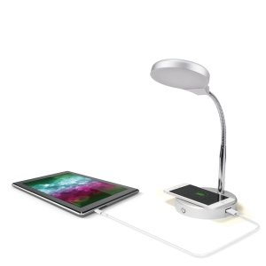 $10Mainstays LED Desk Lamp with Qi Wireless Charging