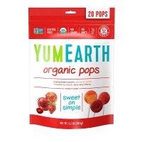 yumearth 天然有机多种口味水果棒棒糖 4.2oz 20支
