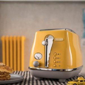 $118 (原价$139)Delonghi CTOC2003Y黄色烤面包机