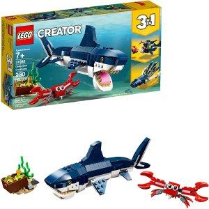 $16.86(原价$19.86)LEGO 乐高 31088 创意百变 三合一 深海生物 共230颗粒