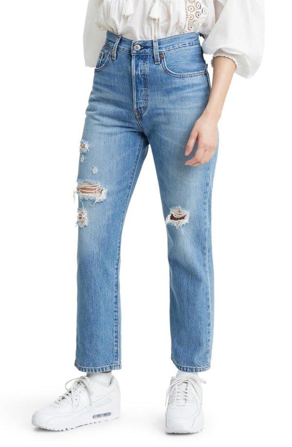 501®高腰牛仔裤