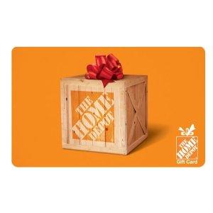 $110的礼卡只需$100The Home Depot 电子礼卡促销