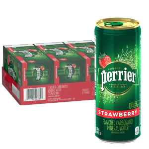 $9.65Perrier Strawberry Flavored Carbonated Mineral Water, 8.45 Fl Oz (30 Pack) Slim Cans