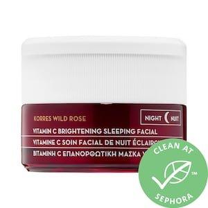Wild Rose + Vitamin C Advanced Brightening Sleeping Facial - KORRES   Sephora
