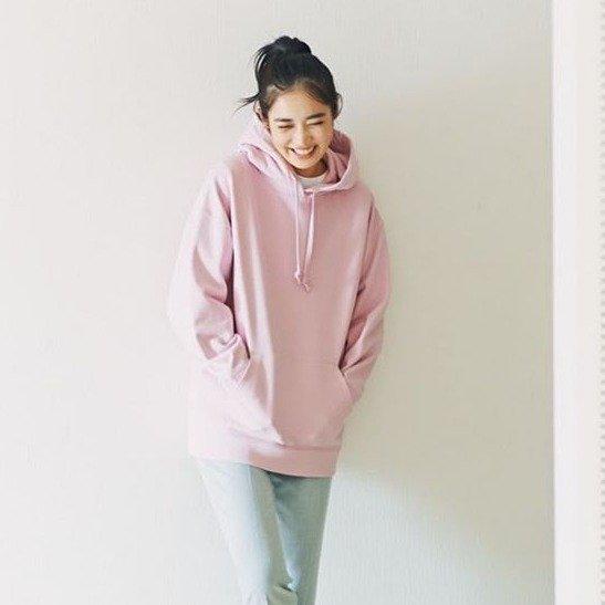 蔷薇粉卫衣