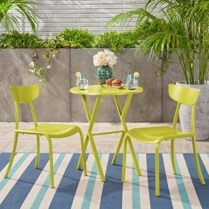 Christopher Knight Home户外餐桌餐椅3件套