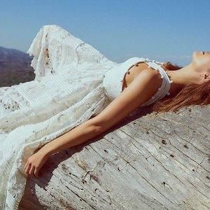 低至4.5折  印花长裙超浪漫Zimmermann 澳洲品牌仙女美衣,美裙热卖